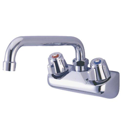 Kitchen Faucets Walmart: Kingston Brass Proseal Wall Mount Double Handle Kitchen