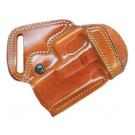 Galco Small of Back Holster, Fits Glock 19/23, Right Hand, Tan Leather