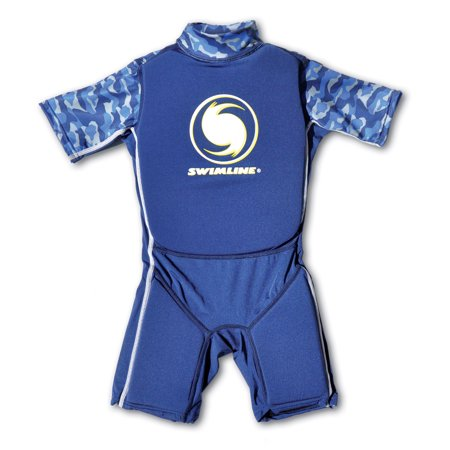 Swimline Blue Lycra Boy's Floating Swim Trainer Wet Suit Life Vest Large 9894B