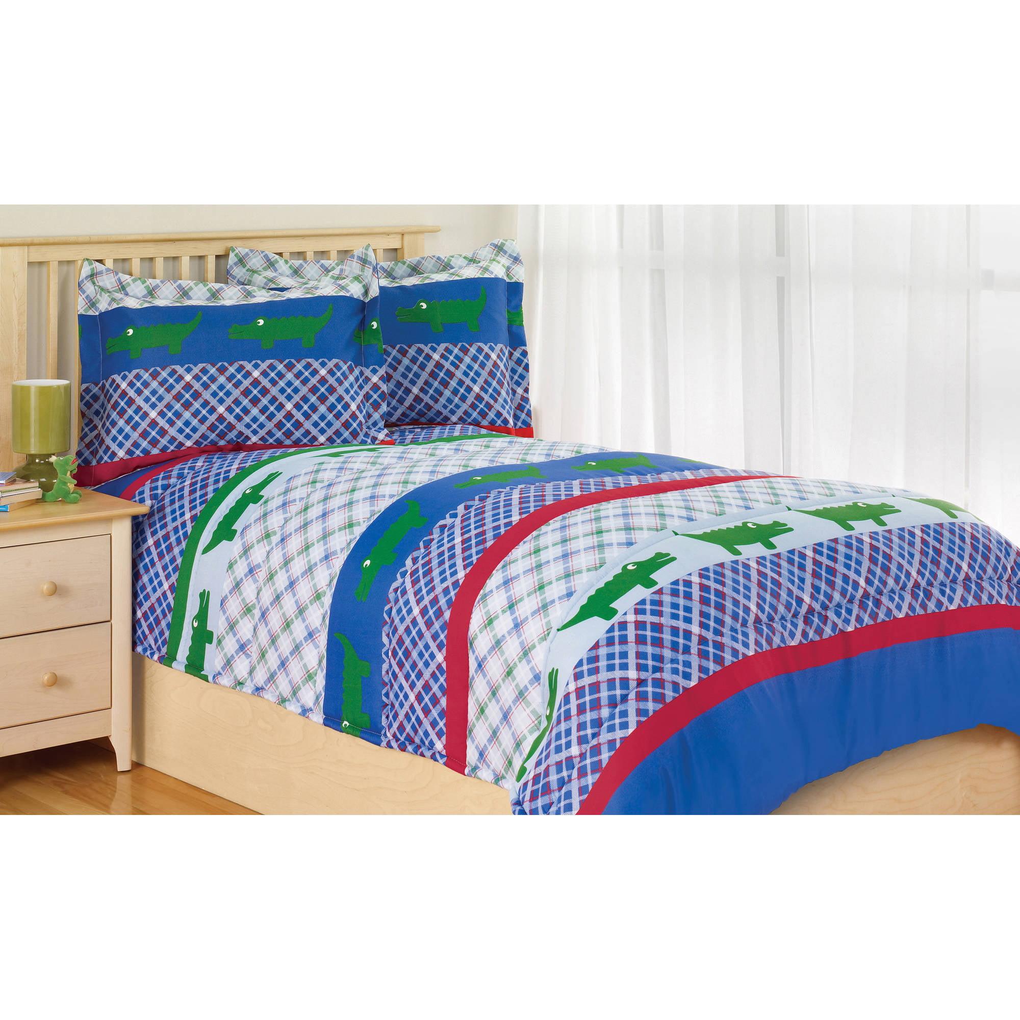 kids crocodile comforter set
