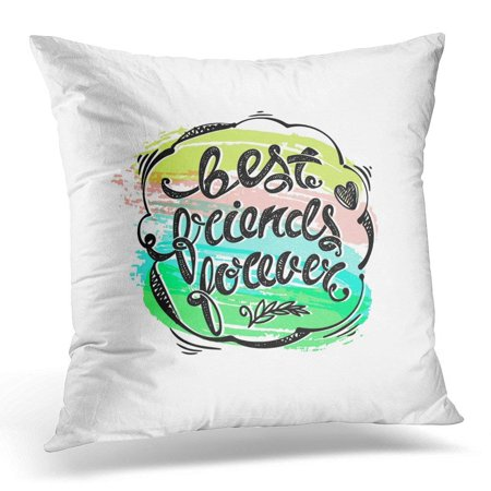 ARHOME BFF Best Friends Forever Hand Drawn Letters Lettering Pillow Case Pillow Cover 20x20 (Best Friend Leaving Letter)