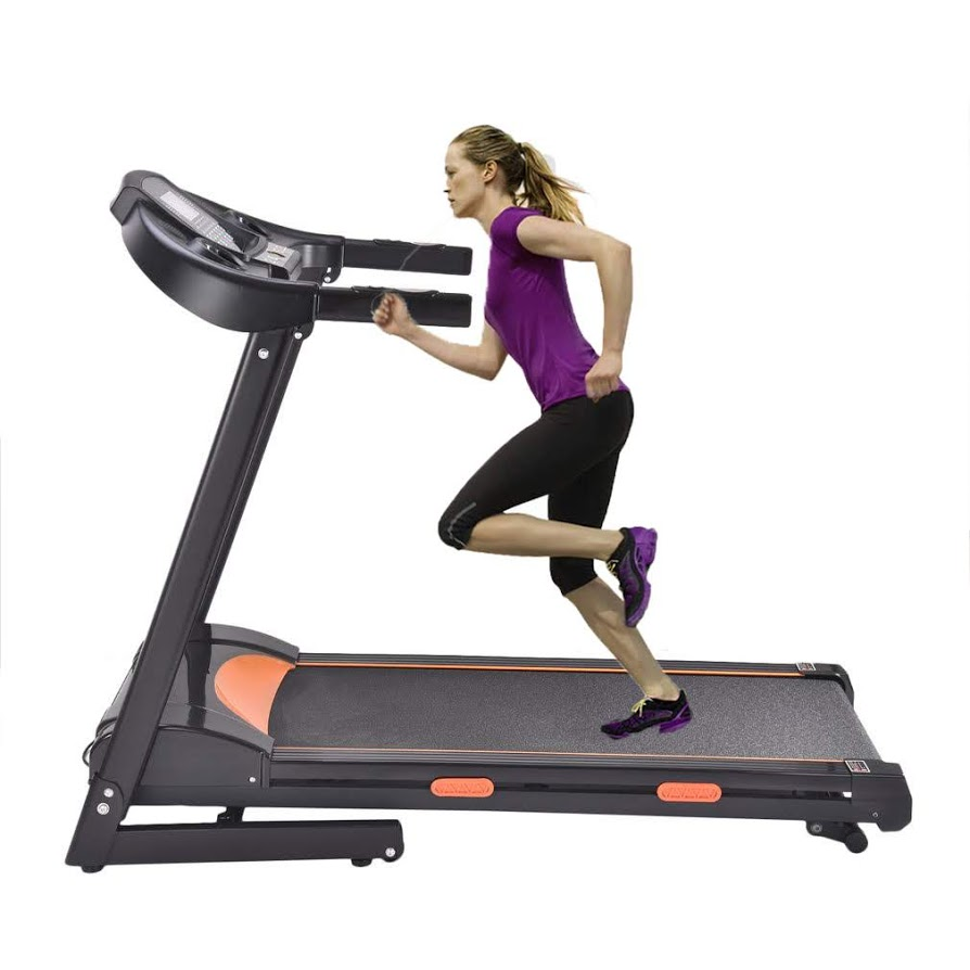 Electric treadmill1000W Folding Treadmill Electric Motorized Power Running Jogging Machine with LED display screen