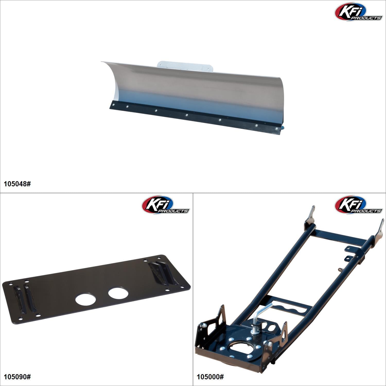 "KFIProducts - ATV Plow kit - 48"", Suzuki King Quad 500 2009-19 Black / Silver  #KK00002318_2"