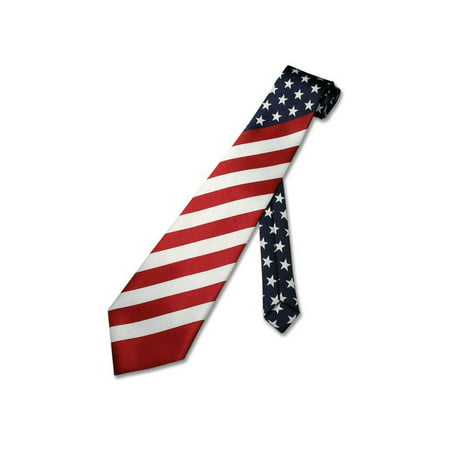 American Flag Men's Neck Tie USA Patriotic Necktie ()