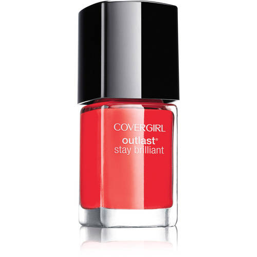 COVERGIRL Outlast Stay Brilliant Nail Gloss Red-dy and Willing 100, .37 oz