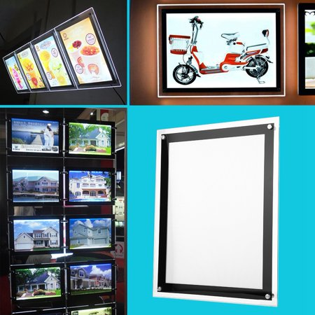 Anauto 110V A3 /A4 LED Light Box Advertising Acrylic Snap Frame Backlit  Board Poster Display( US plug),Light Box, Advertising Light Box
