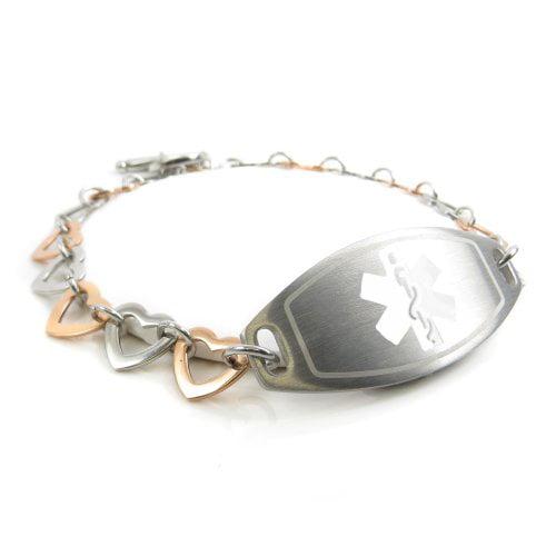 MyIDDr Steel Black ID /& Curb Chain Engraved ID Bracelet Multiple Sclerosis