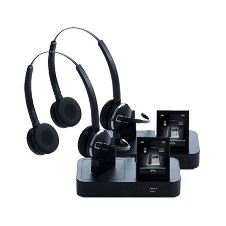 0835afa78ec Jabra PRO 9465 Duo Stereo Wireless Headset w/ Noise-Canceling Microphone (2  Pack) - Walmart.com