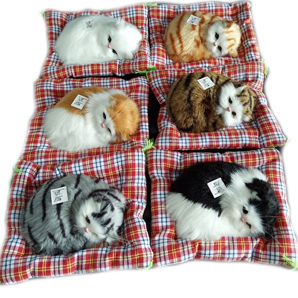 Cute Stuffed Toys Lovely Simulation Animal Cat Doll Plush Sleeping Cats Toy
