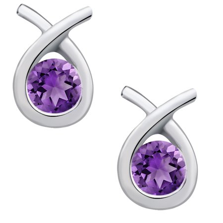 Carat   February Birthstone  925 sterling-silver  Earrings for Women by Orchid Jewelry