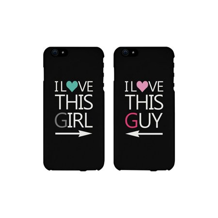 I Love This Girl and Guy Cute Matching Couples Cell Phone - Cute Guy And Girl Halloween Costumes
