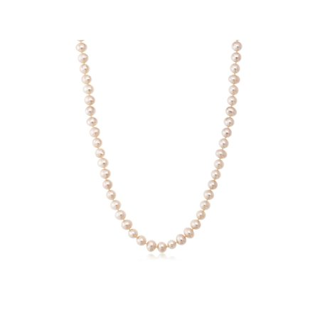 Pink Cultured Freshwater Pearl Necklace and Earring Set In 14K Yellow Gold - image 2 of 5