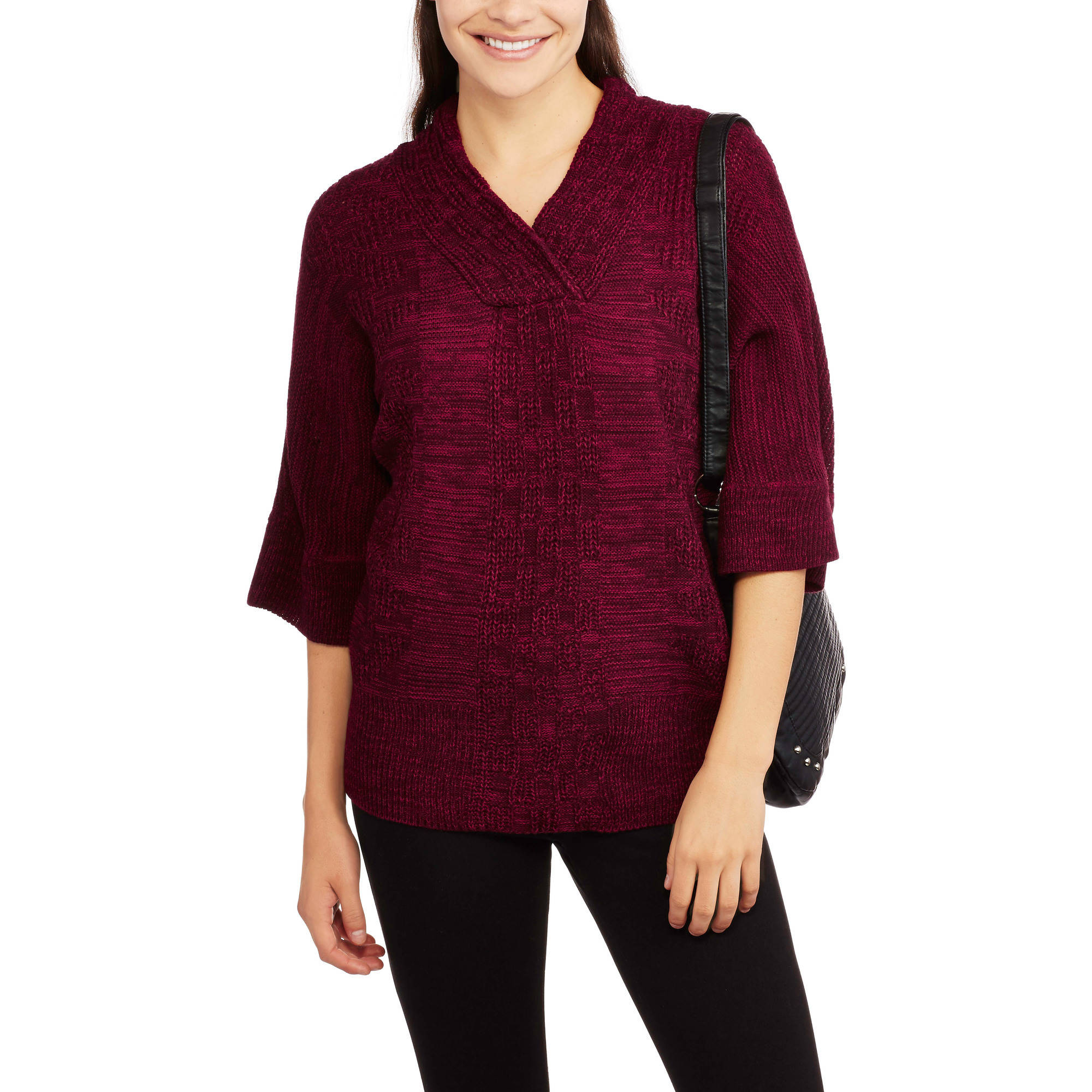 Allison Brittney Women's Dolman Shawl Collar Sweater