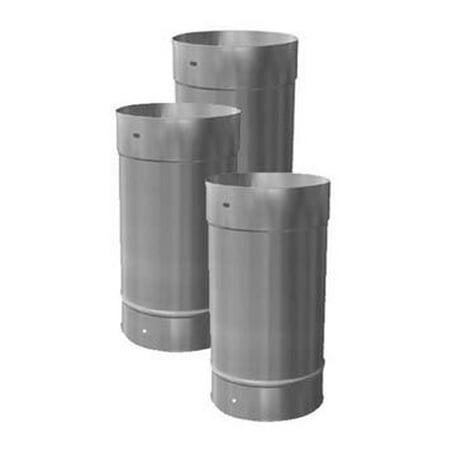 6'' X 24'' Homeowners Choice 24 Gauge Stainless Steel Chimney (Installing Stainless Steel Chimney)