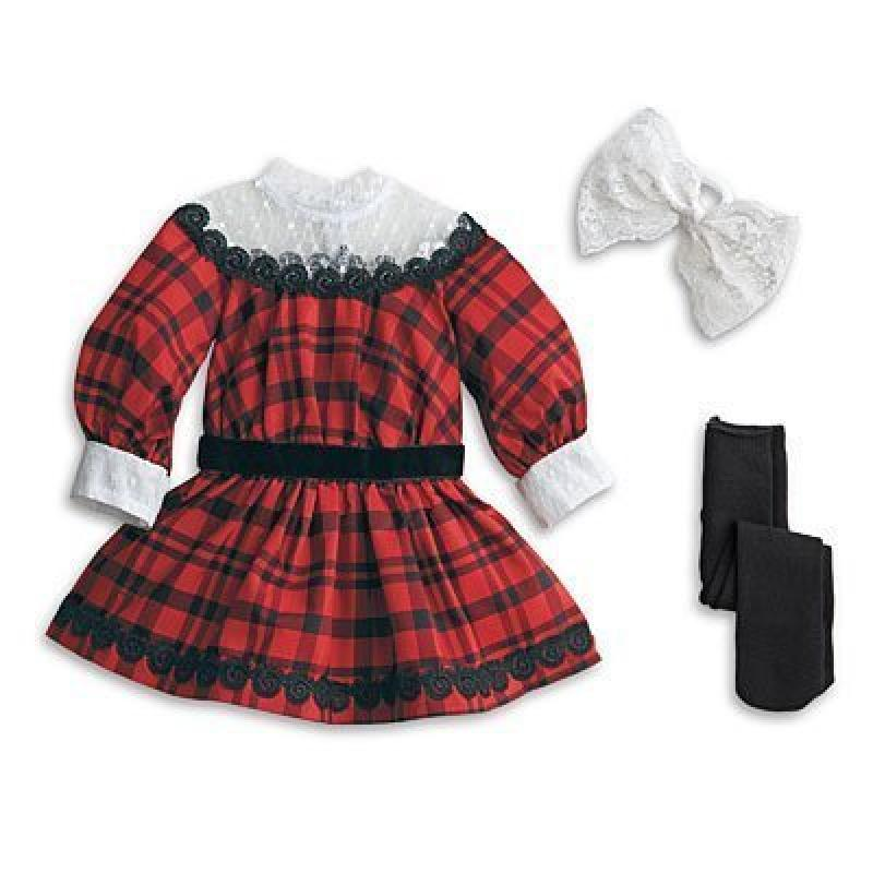 American Girl Samantha's Holiday Outfit & Tea Accessories Set For Doll (Doll is not included) by