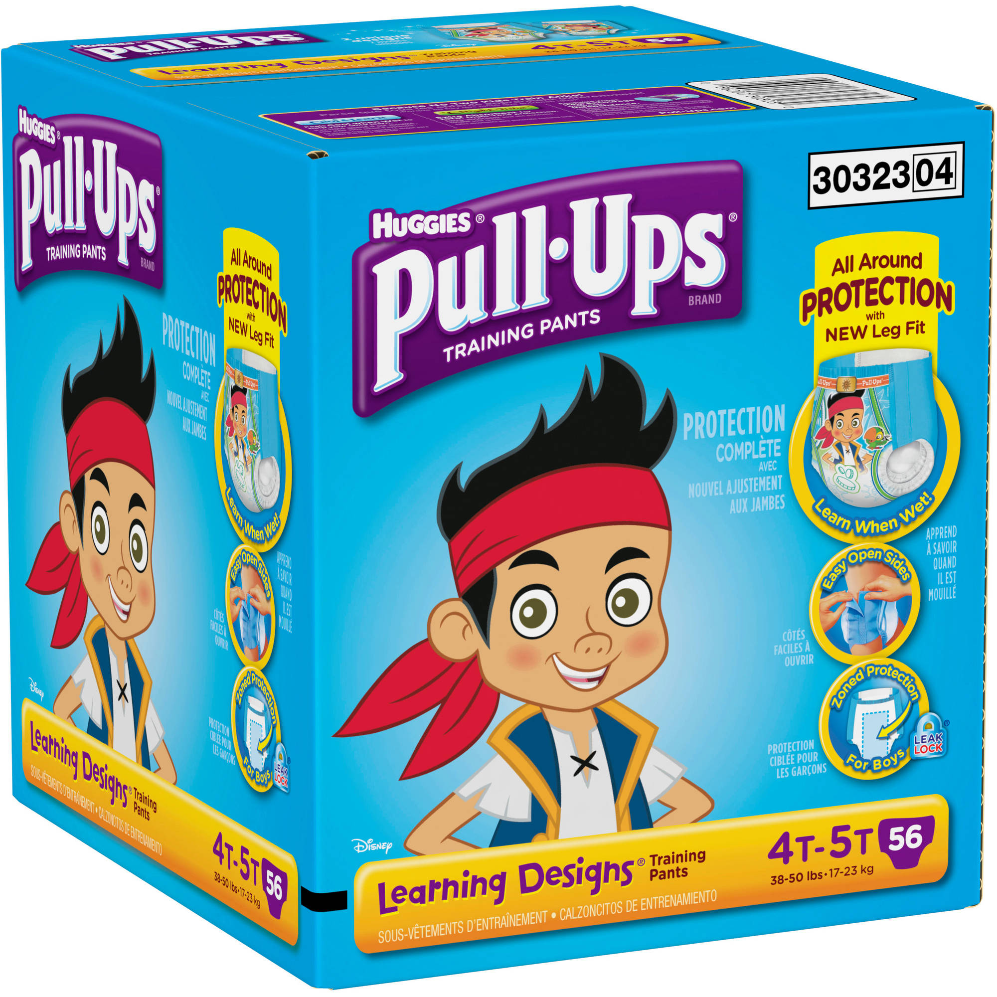 HUGGIES Pull-Ups Boys' Learning Designs Training Pants, Super Pack, 4T/5T (56 count)