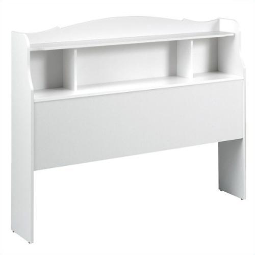 Nexera Dixie Bookshelf Headboard in White-Twin