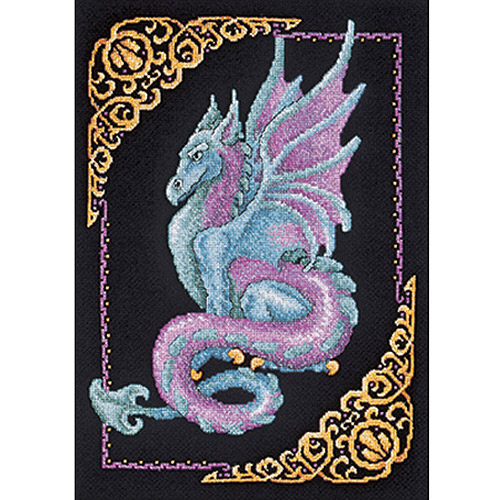 """Mythical Dragon Picture Counted Cross Stitch Kit-11""""X15"""" 14 Count"""