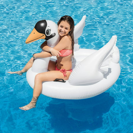 Intex Inflatable Swan Ride On Pool Float, 51