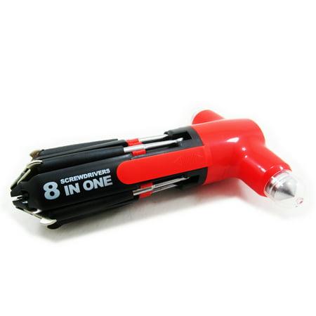 8 in 1 Multi Screwdriver 3 LED Torch Hand Repair Car Tools Kit
