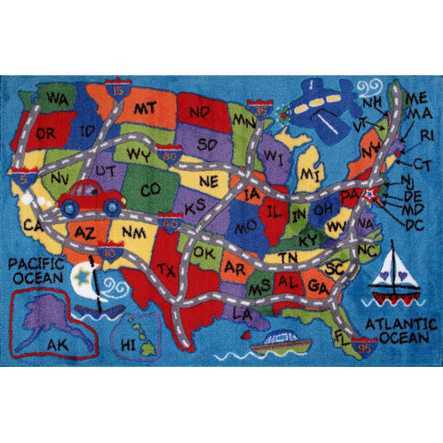 Fun Rugs Fun Time State Classroom Area Rug