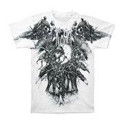 Korn Men's  Eye Of Heart Slim Fit T-shirt White