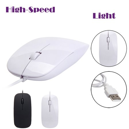 Popular PC Laptop 1200 DPI USB Wired Optical Gaming Mice Mouses WH ()