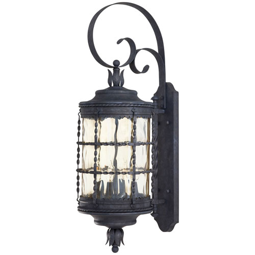 Kingswood Iron Four-Light Outdoor Wall Sconce by