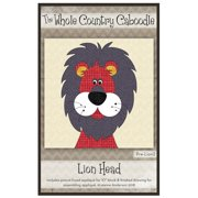 Kit~Lion~Pre-Cut Applique Kit with Fabric by Whole Country Caboodle