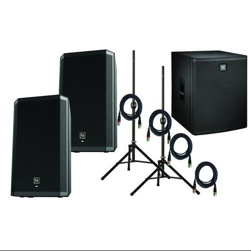 "Electro-Voice Dual ZLX15P w/ELX118P 18"" Powered Sub Pro PA Package"