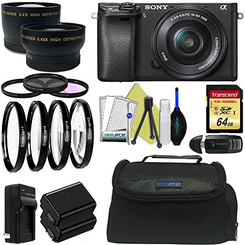 Sony Alpha a6300 Mirrorless Digital Camera with 16-50mm L...