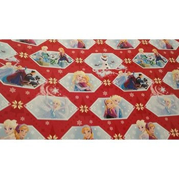 disney frozen christmas wrapping paper olaf elsa anna red blue gift wrap 2 rolls