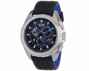 Citizen Eco-Drive Proximity Bluetooth Chronograph Leather Mens Watch AT7030-05E by CITIZEN