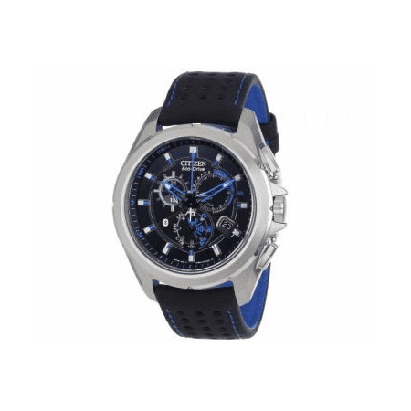 Citizen Eco-Drive Proximity Bluetooth Chronograph Leather Mens Watch AT7030-05E