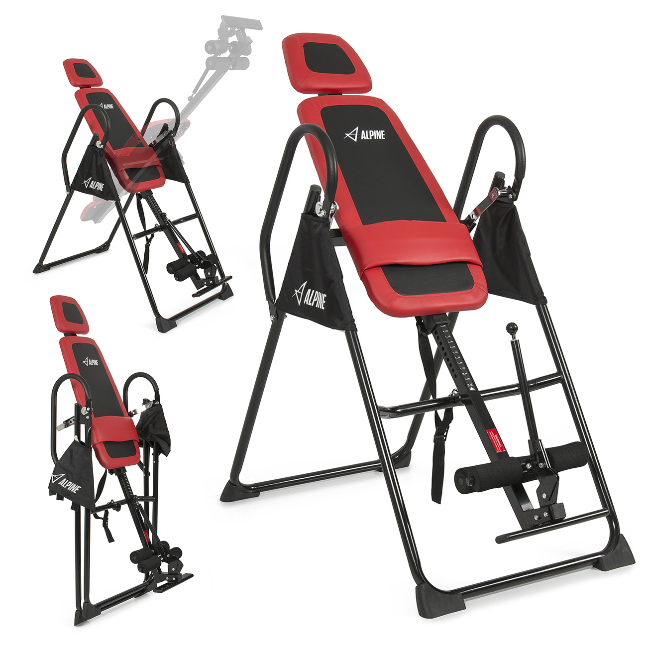 Akonza Fitness Pro Deluxe Inversion Table Chiropractic Exercise Back Reflexology Red