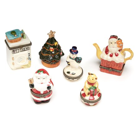 Aa Importing Holiday Themed Trinket Box   Set Of 6