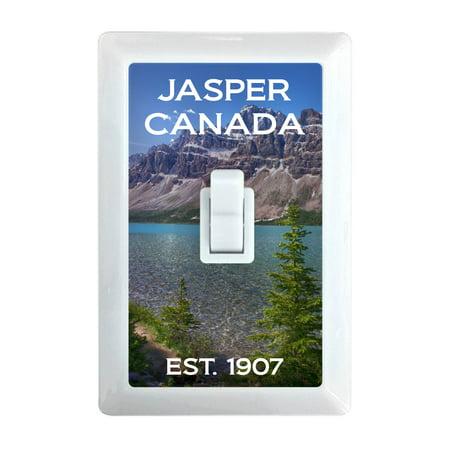 Jasper Canada National Park Alberta Spirit Lake Mountain Bear Souvenir LED Light Switch Night (Jasper Led)