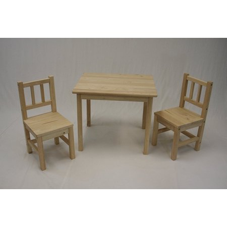 Sensational Ehemco Kids Table And 2 Chairs Set Solid Hard Wood In Creativecarmelina Interior Chair Design Creativecarmelinacom