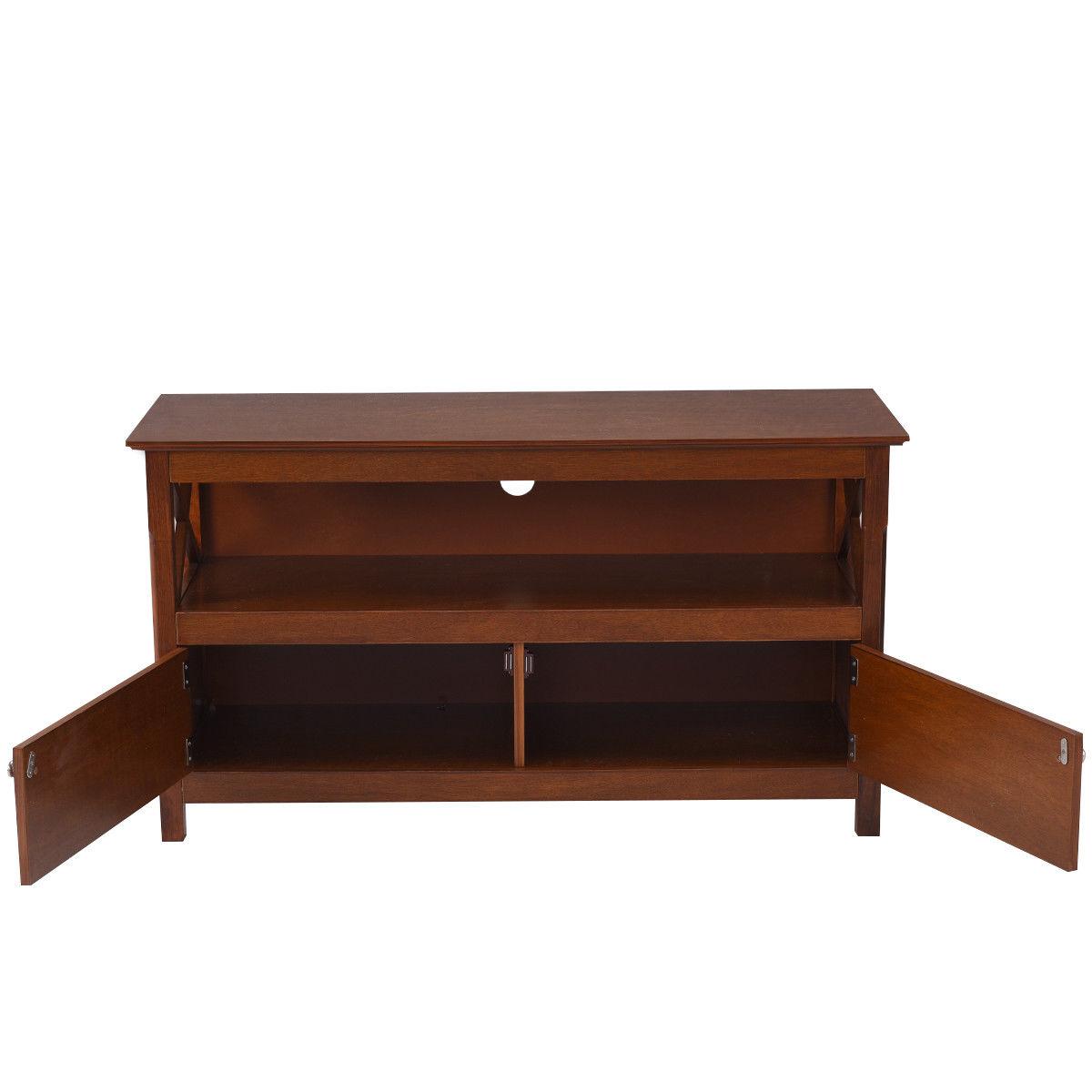 "44"" TV Stand Console Wooden Storage Cabinet Shelf Media Center Stand - image 6 de 9"