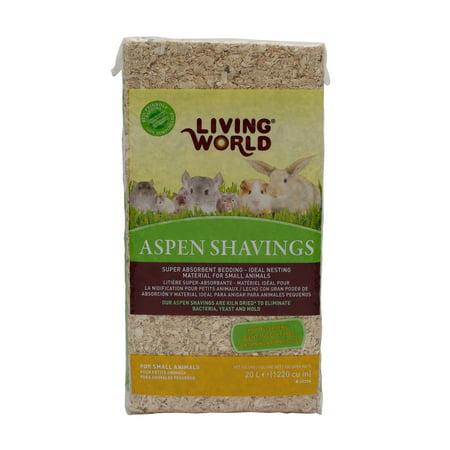 Living World Hamster (Living World Aspen Shavings 1200 cu inch )