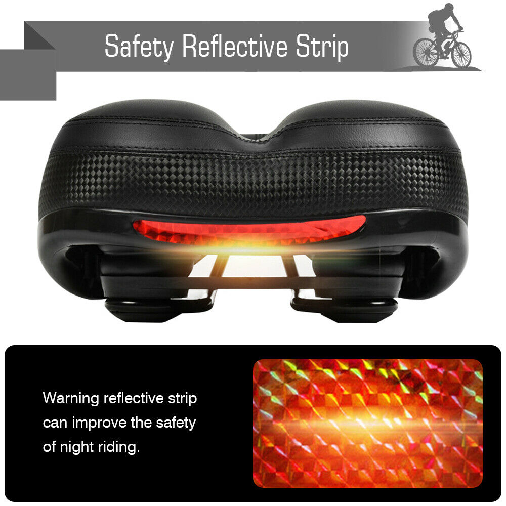 Details about  /Bike Bicycle MTB Wide Big Bum Soft Extra Universal Sprung Gel Saddle Seat Pad