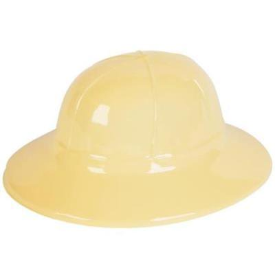 TAN PLASTIC SAFARI HAT