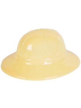 TAN PLASTIC SAFARI HAT