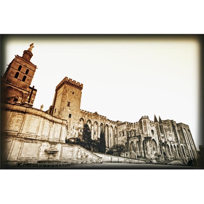 Posterazzi DPI1846257LARGE Avignon Provence France - Popes Palace Palais Des Papes Poster Print, Large - 34 x 22 - image 1 of 1