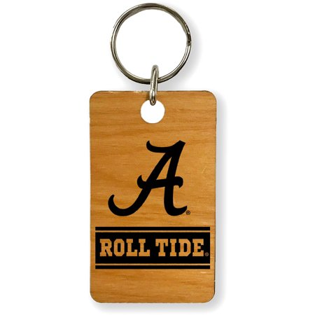 Alabama Crimson Tide Roll Tide Wood Keychain - No Size (Alabama Roll On)