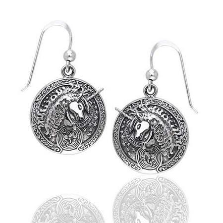 Courtney Davis Sterling Silver Celtic Unicorn Medallion Hook