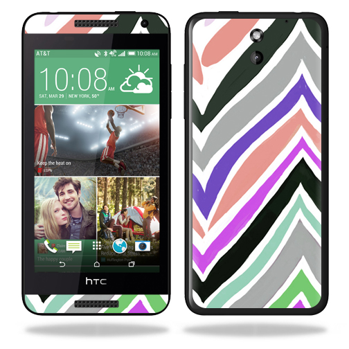 MightySkins Protective Vinyl Skin Decal for HTC Desire 610 wrap cover sticker skins Colorful Chevron