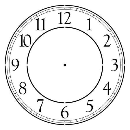 Designer Stencils  Contemporary 18 Inch Clockface Wall Stencil 3697H