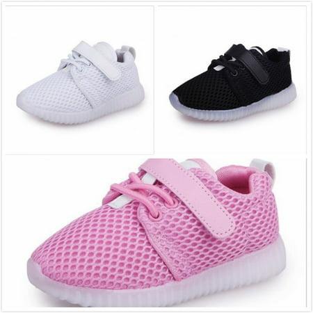 Toddler baby boy girl lighting soft sole sneakers glowing breathable sneakers (Girls Nike Sneakers)
