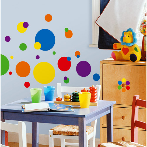 RoomMates   Primary Colors Just Dots Peel U0026 Stick Wall Decals